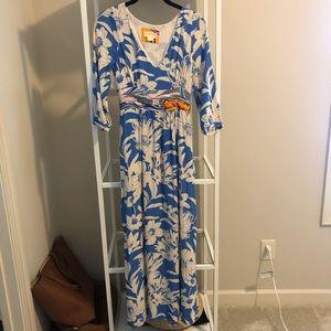Anthropologie maxi printed dress